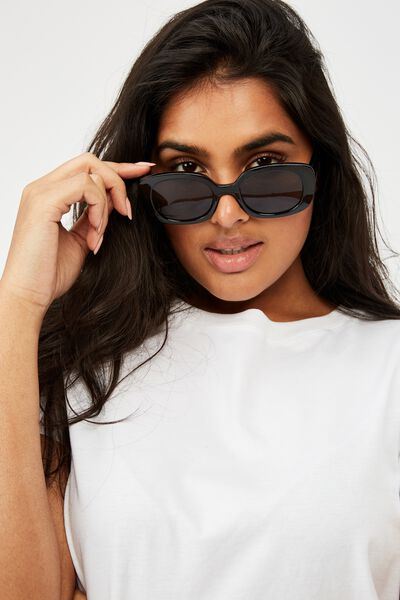 Jade Square Sunglasses, BLACK