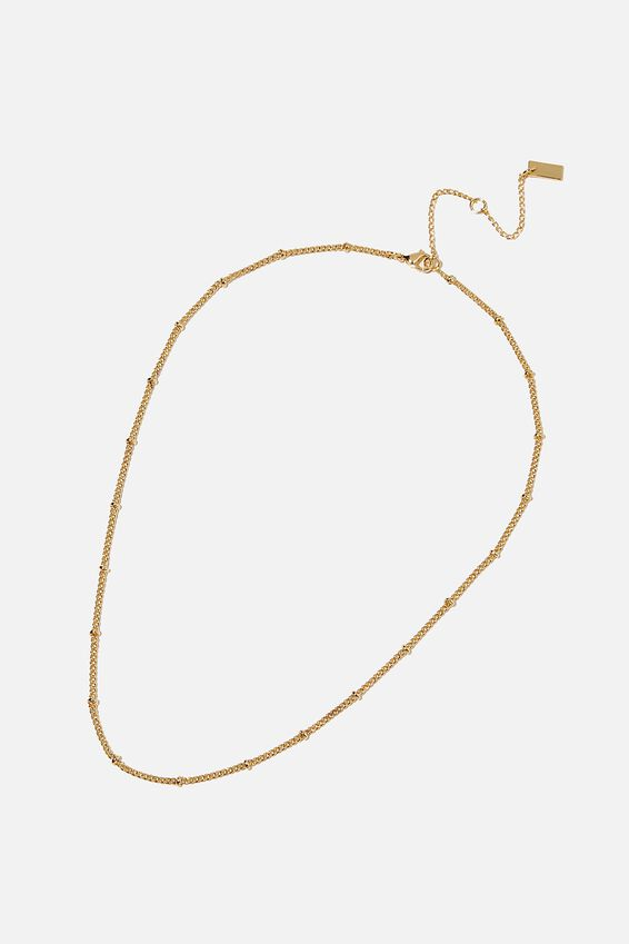 Premium Single Chain Necklace, GOLD PLATED SATELLITE CHAIN