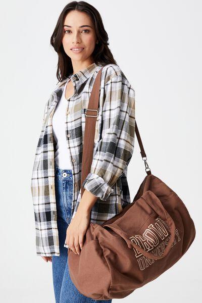 Take Me Away Duffle Bag, LCN BRO BROWN