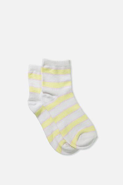 Fun Sock, SEASIDE STRIPE LEMONADE