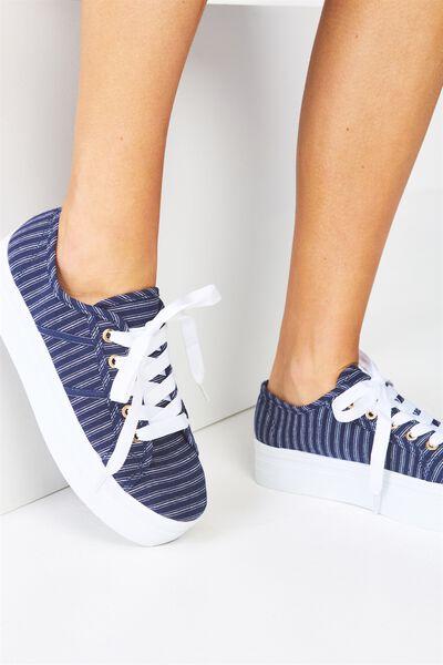 Willow Platform Sneaker, NAVY STRIPE