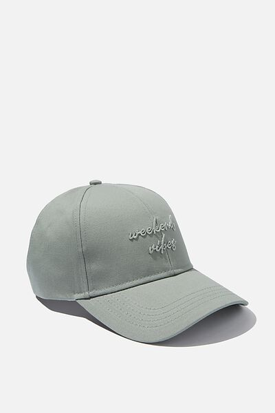 Selina Structured Cap, CHINOIS GREEN WEEKEND