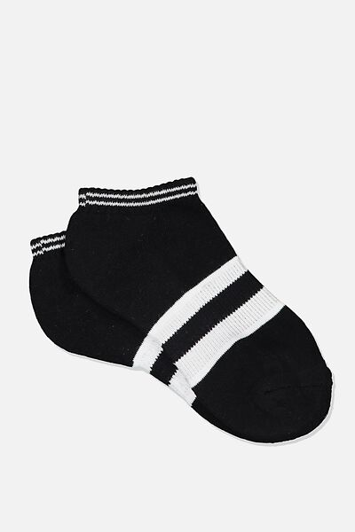 Active Basic Sock, BLACK BLOCK STRIPE
