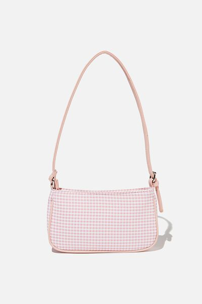 Lexi Underarm Bag, FAIRY FLOSS GINGHAM SEERSUCKER