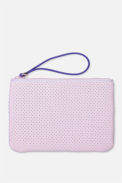 Active Perforated Clutch, LILAC