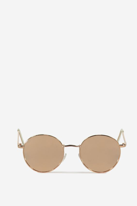 Emmi Metal Frame Sunglasses, ROSE GOLD