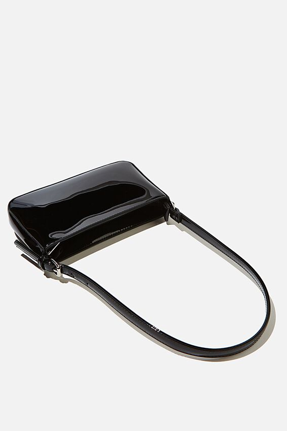 Lexi Underarm Bag, BLACK PATENT