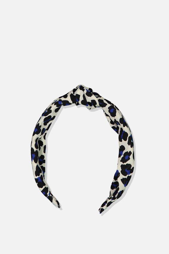 Pia Knot Headband, CREAM LEOPARD