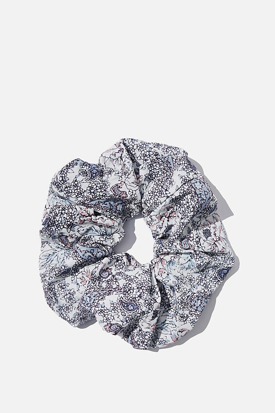 Super Scrunchie, EMILY FLORAL PAISLEY CHAMBRAY