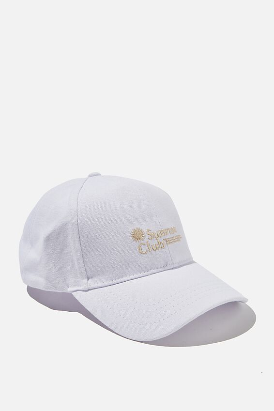 Hailey Structured Cap, WHITE/SUNRISE CLUB