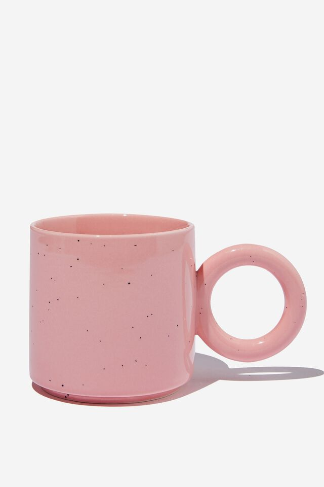 Oversized Handle Mug, PETAL PINK