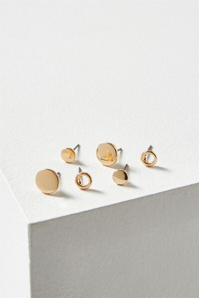 Aish Core Stud Pack, GOLD