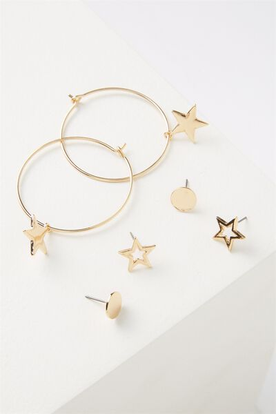 Mintar Star Core Stud Pack, GOLD