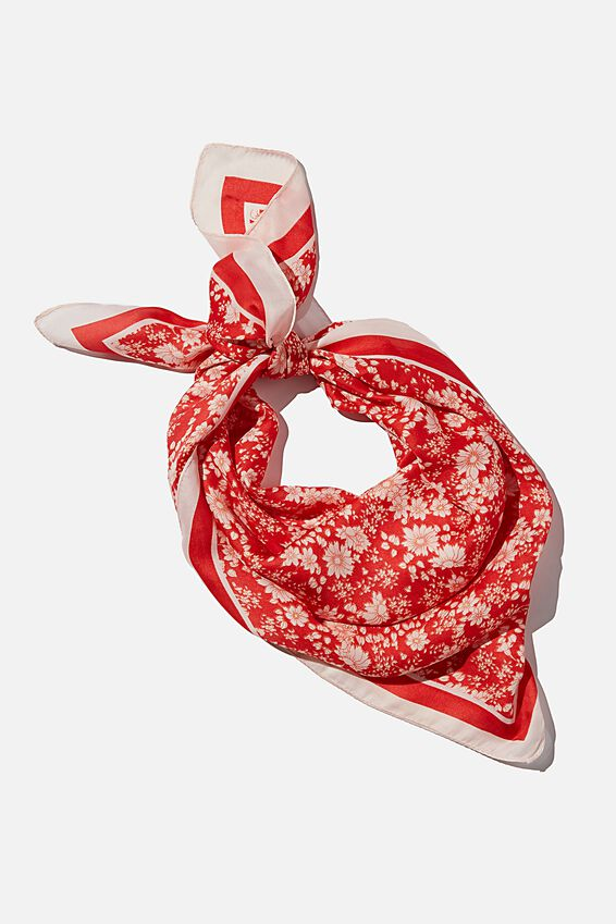 Versatile Scarf, KELLIE DITSY LUCKY RED