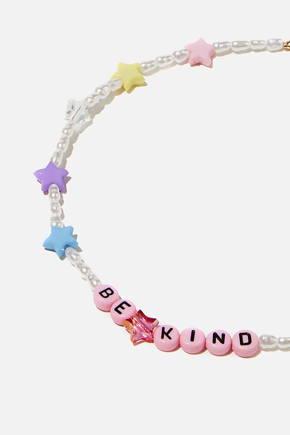 Holiday Beaded Choker, PEARL STAR BE KIND