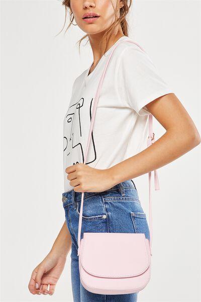 Samantha Saddle Bag, PARFAIT PINK