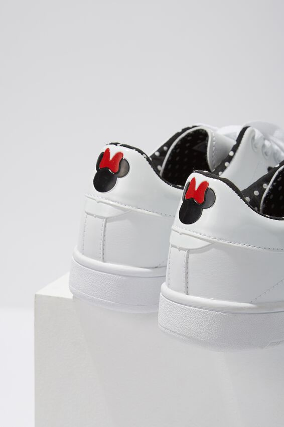 Mickey Cathryn Sneaker, WHITE MINNIE LCN