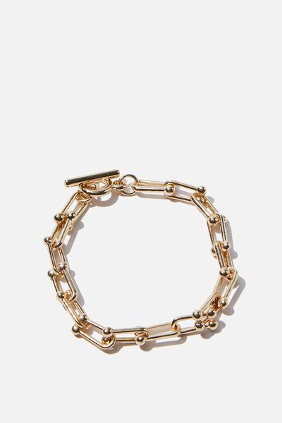 Luxe Layers Paper Chain Bracelet, GOLD