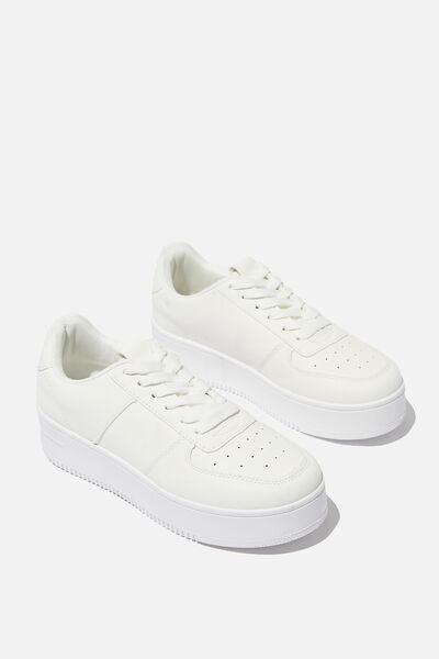 Alex Platform Sneaker, WHITE