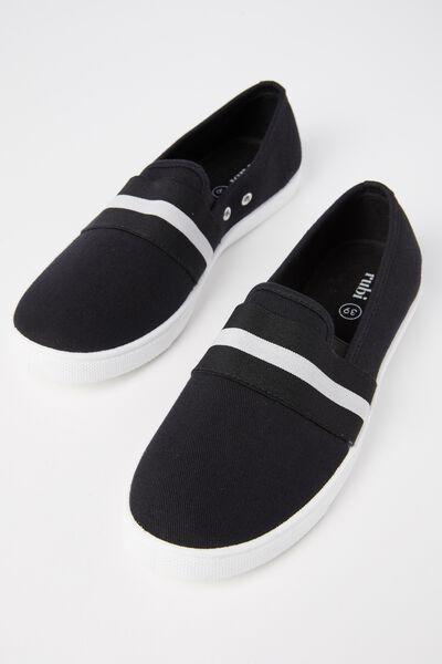 Harlow Slip On, BLACK/WHITE