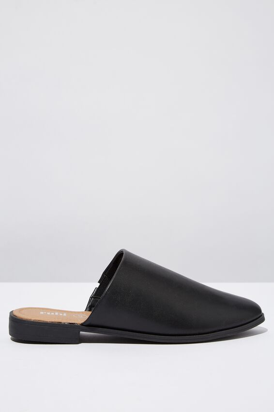 Lia Mule, BLACK SMOOTH PU
