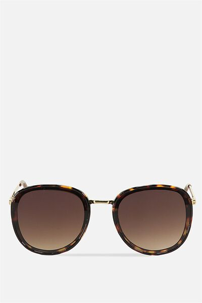 Kinsley Round Sunglasses, CRY
