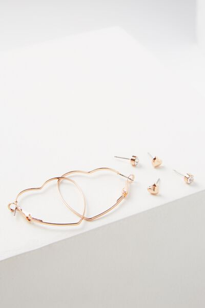 Amie Core Stud Pack, ROSE GOLD