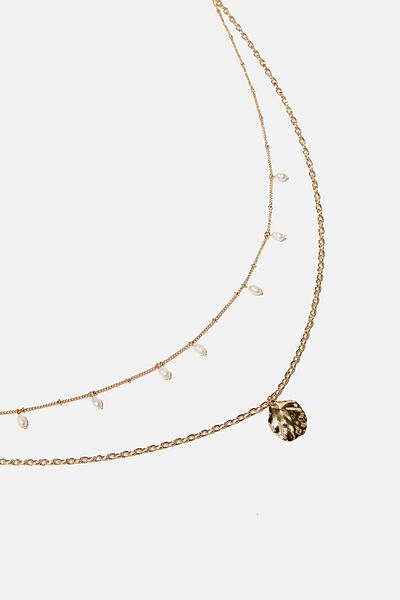 Ocean Vibes Trinkets Necklace, GOLD
