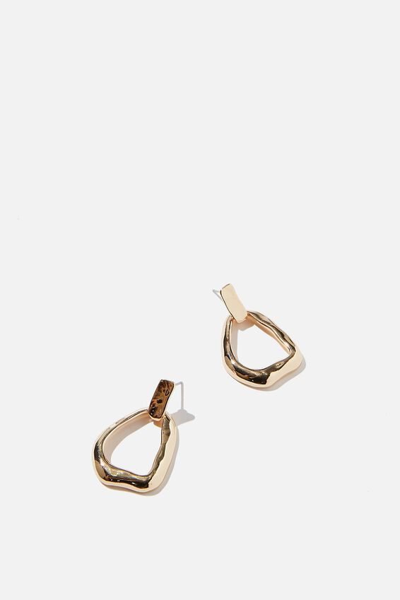 Boutique Treasures Earrings, GOLD