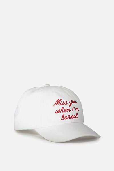 Nancy Cap, WHITE TWILL/MISS YOU