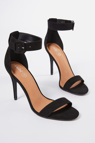 Spritz Stiletto Heel, BLACK MICRO