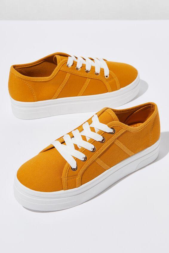 Willow Platform Sneaker, MUSTARD