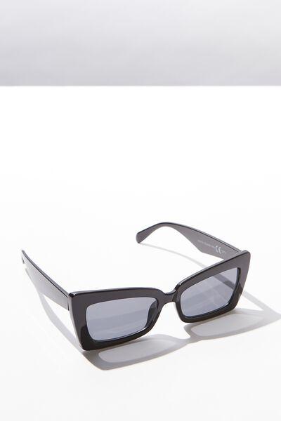Monte Square Frame Sunglass, BLACK/BLACK