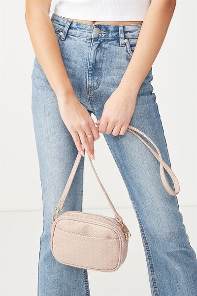 Cameron Cross Body Bag, DUSTY ROSE WOVEN