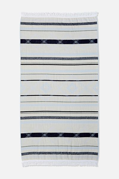 Bondi Rectangle Towel, CASHMERE BLUE AZTEC