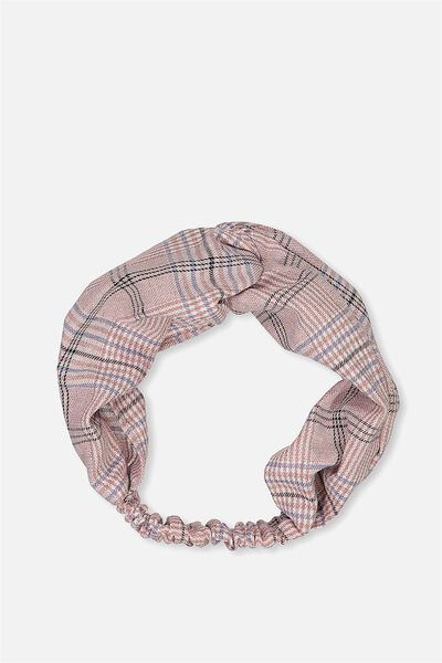 Manhattan Headband, BLUSH GINGHAM