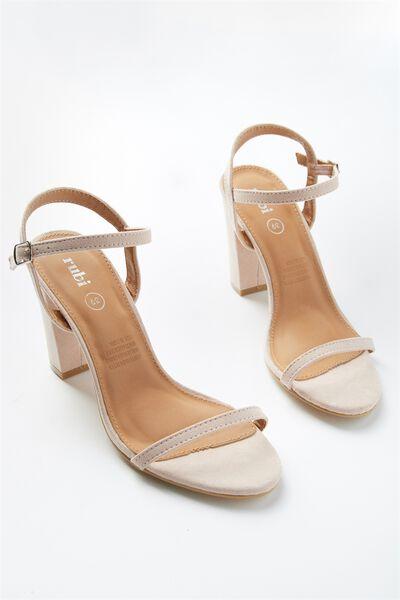 San Carmen Thin Strap Heel, BLUSH MICRO