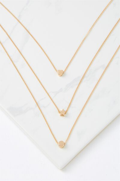 Bailey Necklace, GOLD