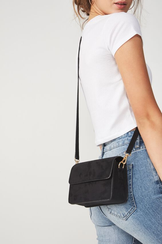 Boxy Cross Body Bag, BLACK MICRO