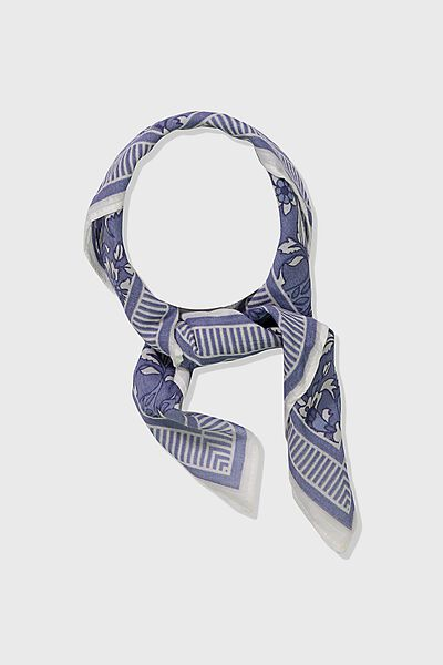 Soho Cotton Scarf, CHAMBRAY PAISLEY PRINT