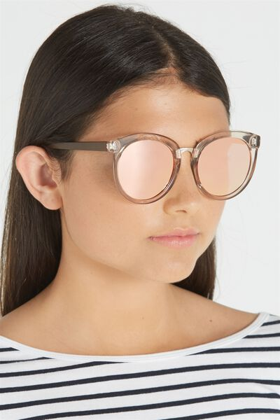 Mia Full Frame Sunglasses, PINK TINT