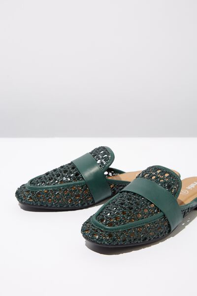 Kandy Woven Loafer Mule, GREEN