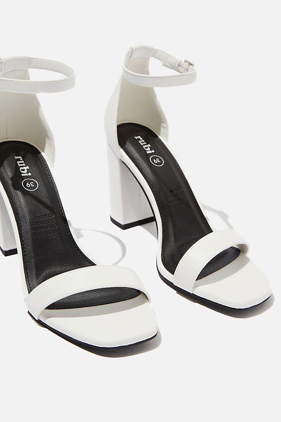 San Square Toe Heel, WHITE