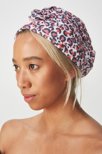 Body Home Spa | Hair Wrap, MULTI LEOPARD