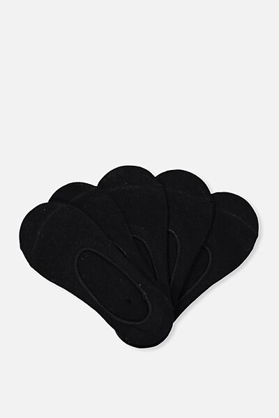 5Pk Low Cut Sock, BLACK