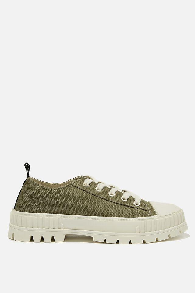 Hayden Lug Sole Sneaker, KHAKI