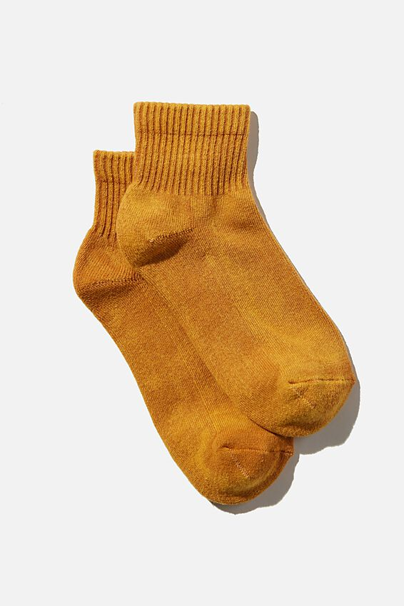 Club House Quarter Crew Sock, RETRO YELLOW