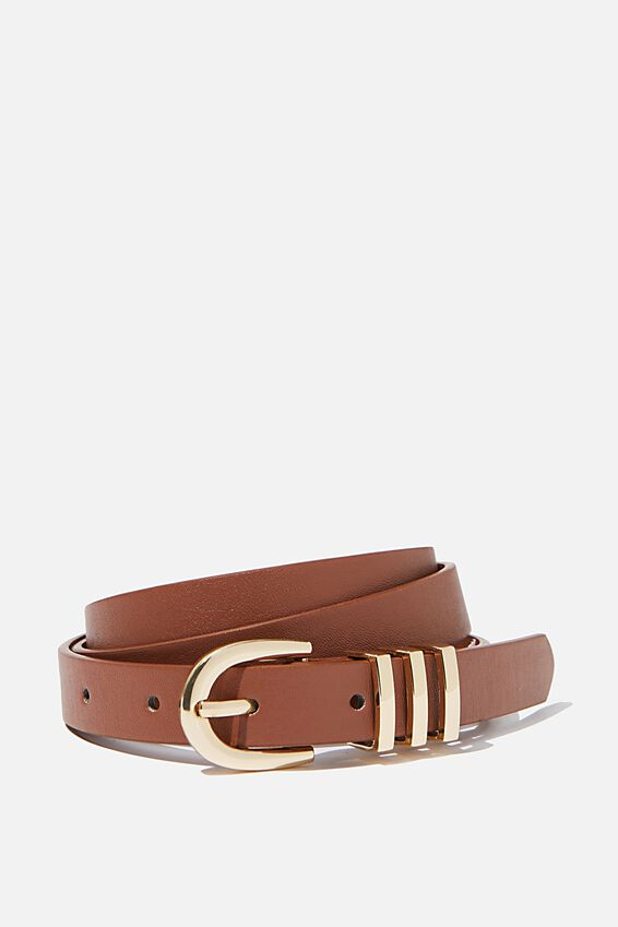 Triple Loop Belt, TAN