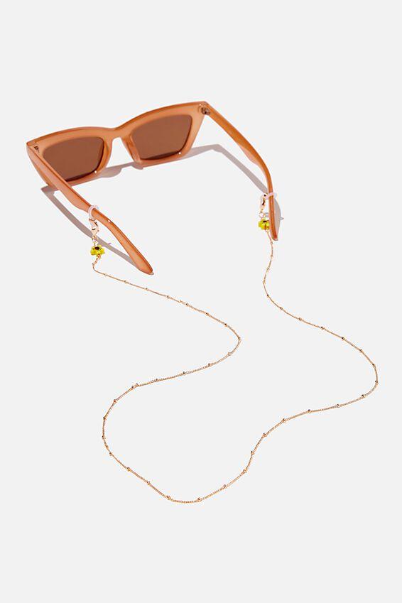 Ava Glasses Chain, FLOWER BEAD
