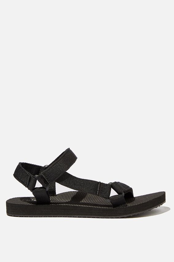 Stormy Sporty Sandal, BLACK